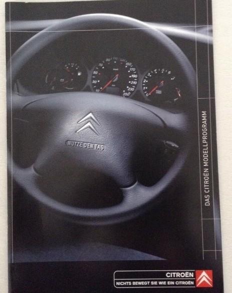 Duitse folder/brochure Citroën