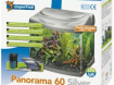 Panorama black & Silver aquarium
