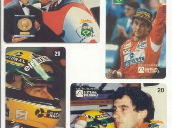 Ayrton Senna complete serie Braz. telefoonkaarten