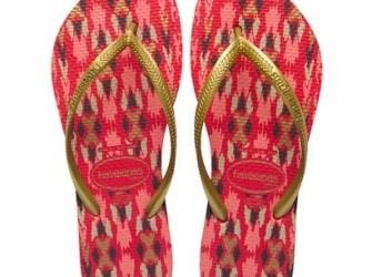 NIEUW! Havaianas slippers Slim mt 39/40 rood-goud