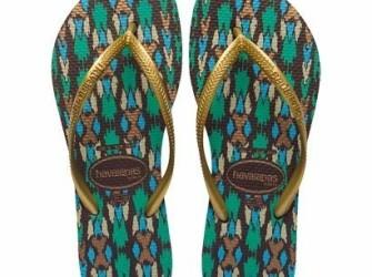 NIEUW! Havaianas slippers Slim mt 39/40 groen-goud