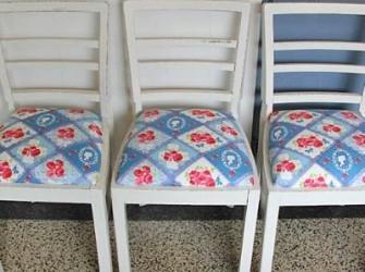 bonte brocante stoeltjes