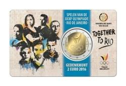 België 2 Euro 2016 Rio de Janeiro Coincard Nederlands