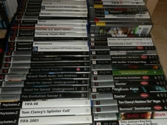 verschillende games, playstation, PSP, xbox, xbox360