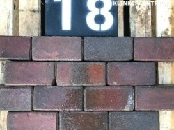 19326 18m2 rood antraciet gebakken klinkers keiformaat stra…