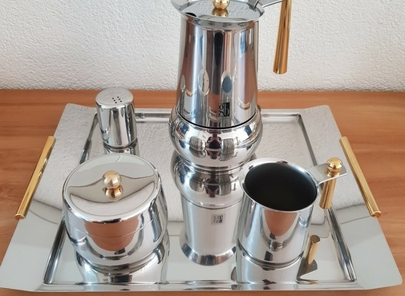 ESPRESSO SET DE Design  GUIDO  BERGNA (GB) Inox 18/10