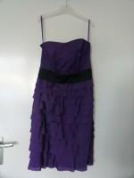Strapless jurk paars