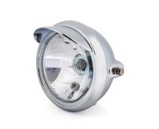 """6.75 """"Chrome Universal Headlight + Visor - Emarked"""