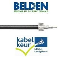 Belden CX9D0  coax 9 Duobond+ PVC kleur zwart per meter