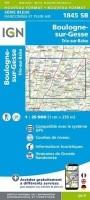 Topografische Wandelkaart van Frankrijk 1845SB - Boulogne-s…