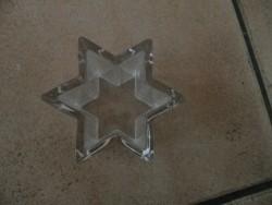 E 1 -> Hele zware glazen ster (kan waxinelichtje in)