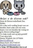 Dierenvoedselbank Den helder zoekt!!