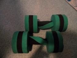 E 4 -> Hele lichte gewichten (250 gram per stuk)