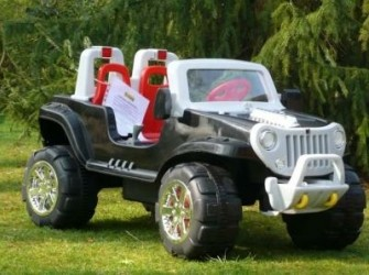 Stoere Grote Jeep, 2 persoons 12V + RC ***NIEUW***