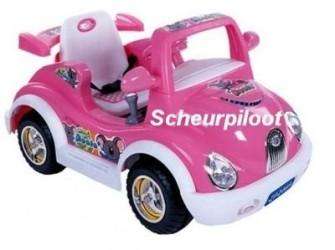 Stoere Roze Auto, 6V + Afstandsbediening **NIEUW**