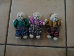 E 1,50 voor 3 Harlekijntjes/Clowntjes