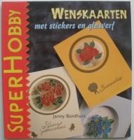 Boekje - Wenskaarten met stickers en glasverf