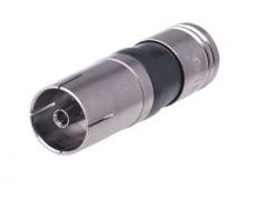 female IEC compressie connector