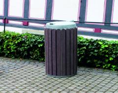 Afvalbak 4 Kunststof metaal afsluitbaar openklabbaar 130 li…