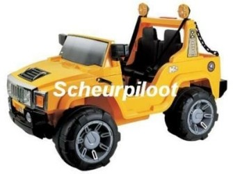 Jeep, 2 pers 12V + FM radio & MP3 aansl ~NIEUW~