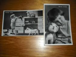 "2 oude Ansichtkaarten ""34;Prettige Uurtjes'36,(174"