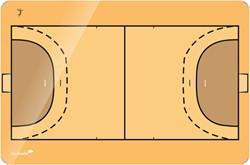 Taktiekbord  Handbal  in 4 matenAfmetingen Bord: 90 cm x 1…