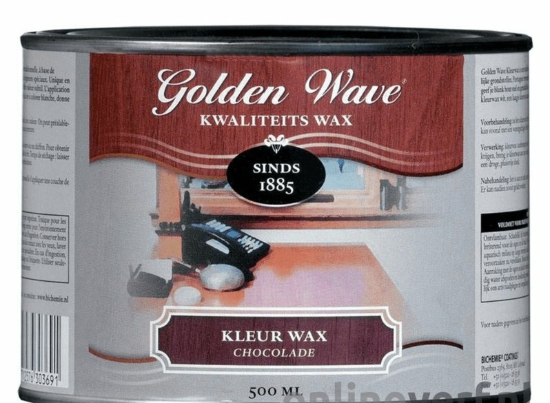Golden Wave Kleur Wax Chocolade 500 ml