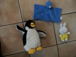 E 1 Knuffeldoekje, pinguin en Nijntje