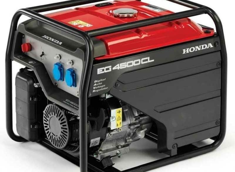 Aggregaat Honda EG4500CL D-AVR Benzine 4,5 kVA 230V