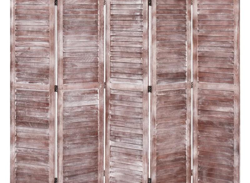 vidaXL Kamerscherm met 5 panelen 175x165 cm hout bruin