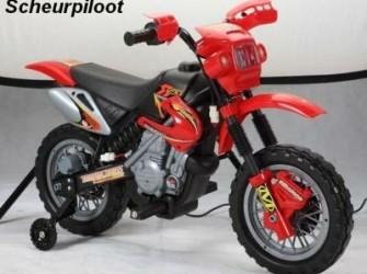 Motor, 6V - Kleur:Zwart/Rood ***NIEUW***
