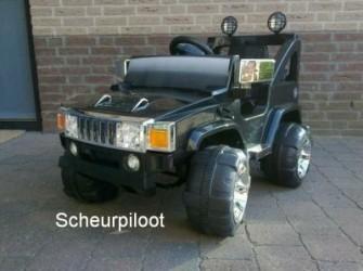 Jeep, 1 persoons 12V Dubbele motors ***NIEUW***