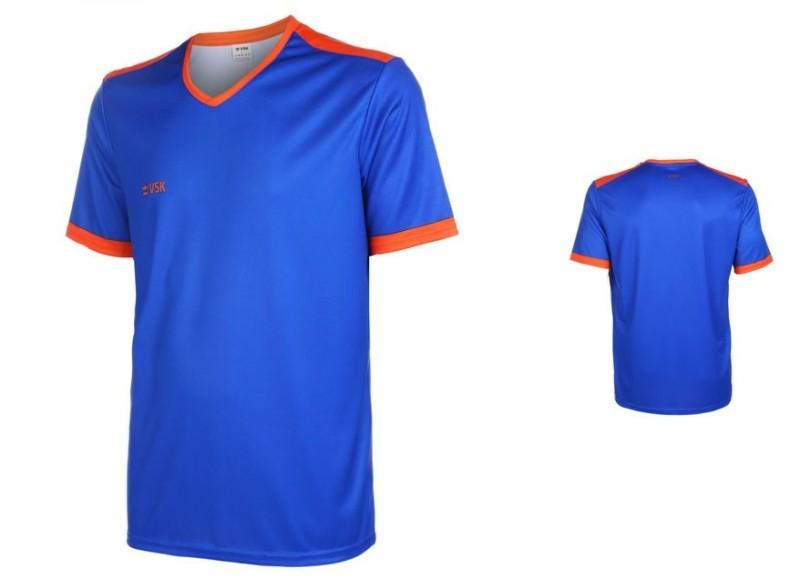 VSK Fly Voetbalshirt Eigen Naam Blauw-Oranje