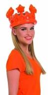 Oranje opblaasbare kroon