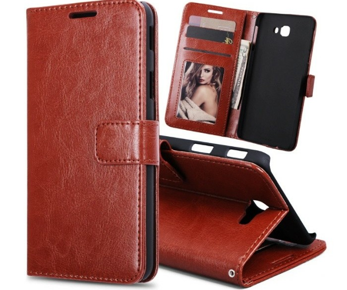 Samsung Galaxy S7 - Leren Wallet Flip Case Cover Cas Hoesje…