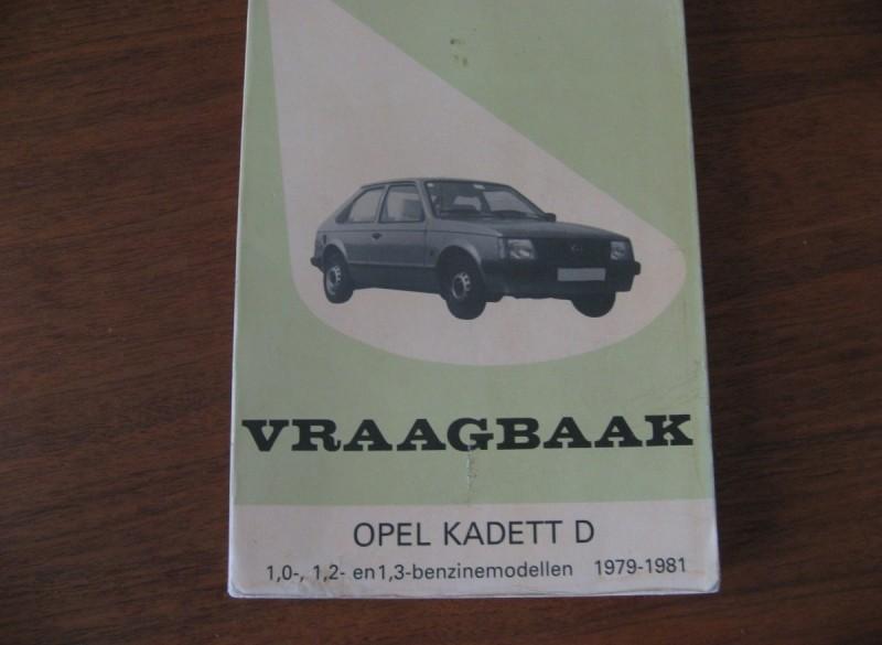 Vraagbaak van de Opel Kadett D (1979-1981)