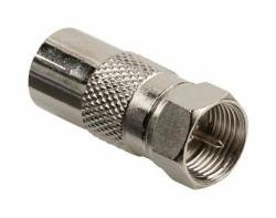 Verloop IEC female naar F-connector male