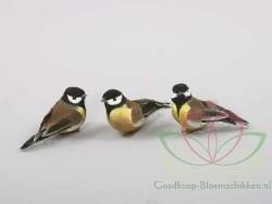 Vogeltjes de luxe Mees Mezen ds12 stuks Mezen Mees