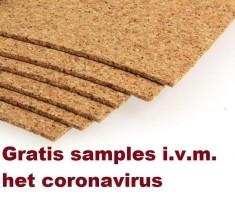 Gratis samples i.v.m. Coronavirus