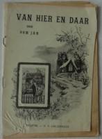 Oud boekje - Van hier en daar - Oom Jan