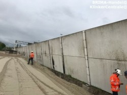 Gewapende betonplaten megaplaten betonwanden geluidscherm
