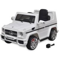 vidaXL Elektrische auto Mercedes Benz G65 SUV 2 motors wit