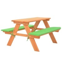 vidaXL Kinderpicknicktafel met banken 89x79x50 cm massief v…