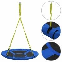 vidaXL Schommel 150 kg 110 cm blauw