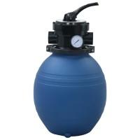 vidaXL Zwembadzandfilter met 4-positie ventiel 300 mm blauw…