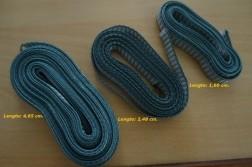 3 restant stukken stevig grijs rolluiklint (breedte: 14 mm)…