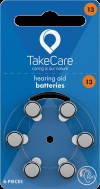 TakeCare 13 (PR48) Oranje gehoorbatterij