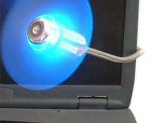 USB Fan Ventilator Blauw Licht - Gratis Bezorgd!