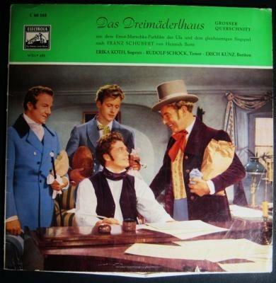 """LP operette """"das Dreimäderlhaus"""",1958,elektrola 60588,zgst"""