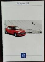 Folder/brochure - Peugeot 205 - 1993